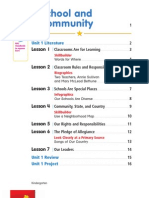 NYC Social Studies Grade K Table of Contents