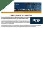 2010 Automotive Conference