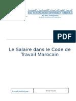 17696729 Le Salaire Dans Le Code de Travail Marocain