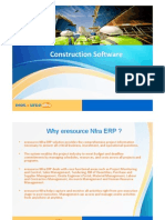 ConstructionConstruction ERP software   - eresource Nfra ERP Software