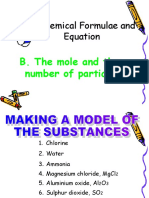 Chemical Formulae and Equation