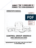 TM-11-5820-489-10 Control Group AN/GRA-6