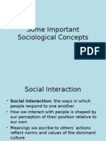 201.03 Important Sociological Concepts