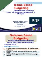 Outcome Based Budgeting in Malaysia