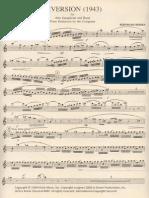 Heiden, Bernhard ''Diversion'' - Sax Part