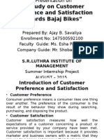 A Study on Customer Preference and Satisfaction Towards Bajaj Bikes