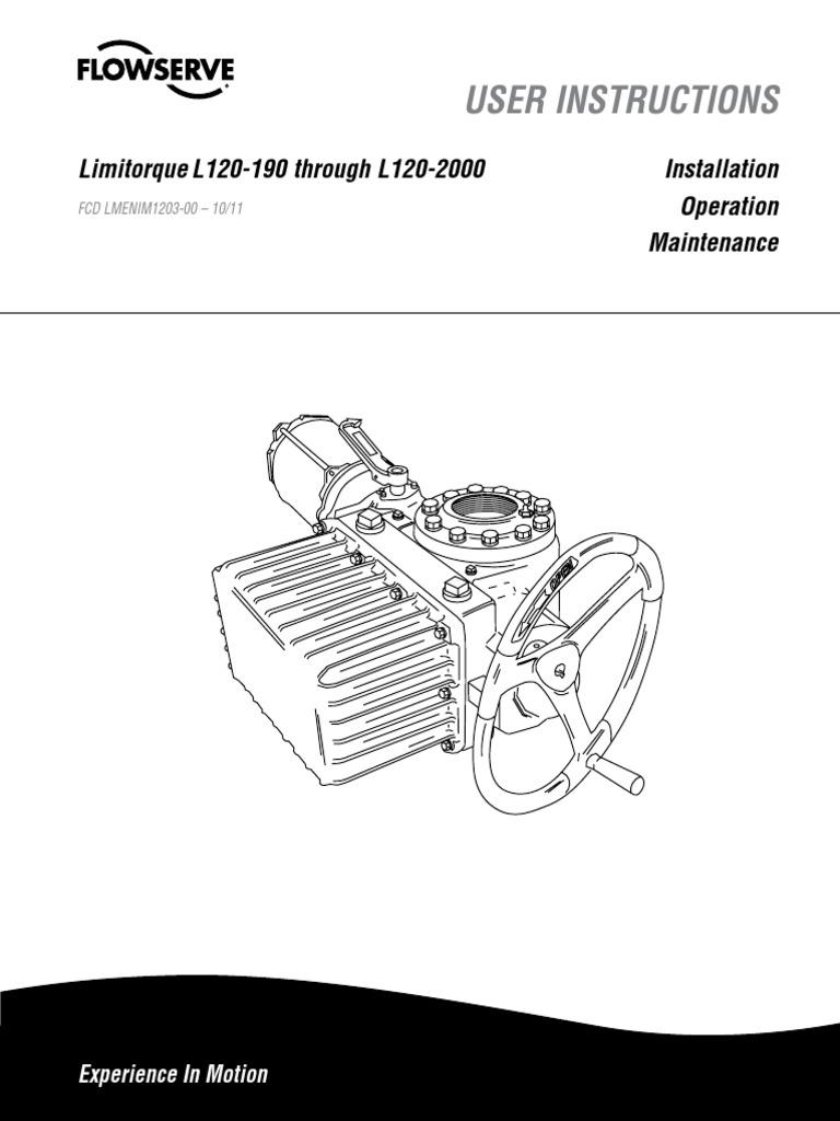 Limitorque L120 20 Wiring Diagram Mxa 1024