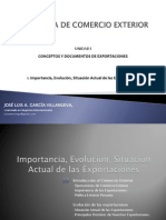 Semana 1 - Importancia, Evolucion, Situación Actual de Las Exportaciones
