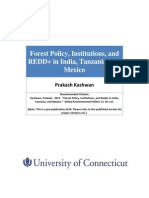 Kashwan - Forest Policy & Institutions in India Tanzania & Mexico