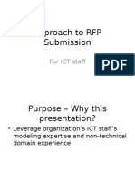 Approach to RFP Submission