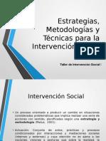 Taller Estrategias-Metodologías- Técnicas 2015