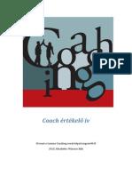 Coach Értékelő Ív - Wiesner Edit, Lemma-Coaching.hu