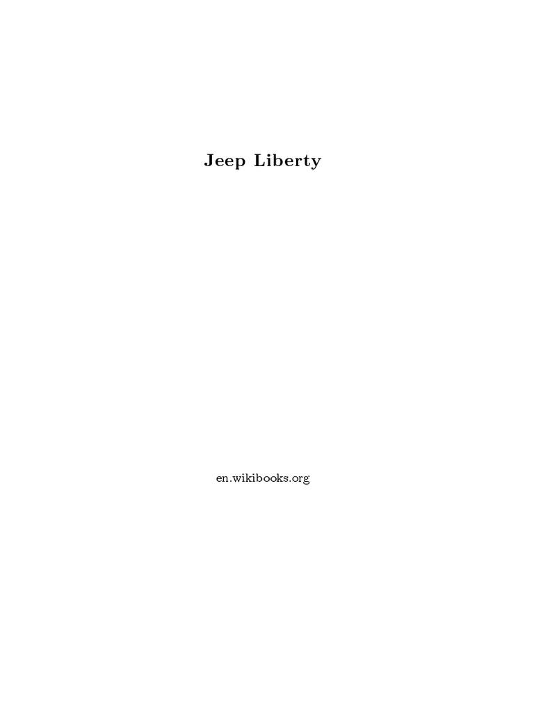 Jeep Liberty Wikibook