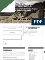 2003 Jeep Warranty Booklet