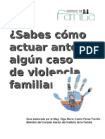 ¿Sabes Cómo Actuar Ante Algún Caso de Violencia Familiar