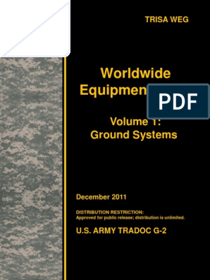 Us Army Trisa World Equipment Guide Volume 1 Ground
