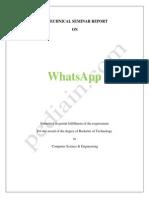 1 Whatsapp Seminar Report