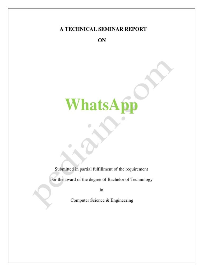 1 whatsapp seminar report whats app computing yadclub Choice Image