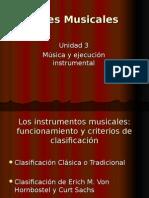 Artes Musicales 3 Unidad Instrumentos Musicales