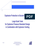 Explosion Protection in Bucket Elevators - Large Scale Tests for Explosion Pressure Resistant Design in Combination With Explosion Venting