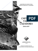 Cartilla Cazadores Chile