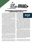 Plenario Nacional de Delegados y Delegadas - Resolución sobre situación política nacional y orientación hacia 2015