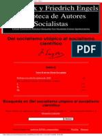 Engels, F. - Del Socialismo Utópico Al Socialismo Científico