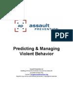 Predicting Violence Course