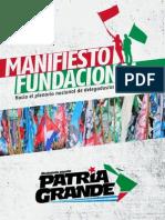 MANIFIESTO FUNDACIONAL DE PATRIA GRANDE