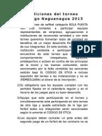 Condiciones Del Torneo Mañongo 2015