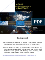 Moving INDIA to 2032 Railway Sector Report of India Transport Report(Highlights) - Rajnish Kumar