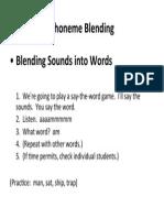 phoneme blending routine