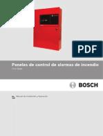 Manual de Operación e Instalación Panel de Control Alarma de Incendio