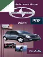 2005 Scion XA ReferenceGuide