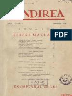 Gândirea Ianuarie 1936, Anul 15, Nr. 1