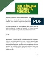 Lanzamiento campaña Peñalosa