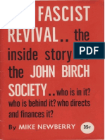 Newberry the Fascist Revival the Inside Story of the John Birch Society