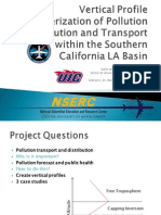 Vertical profile characterization of pollution distribution and transport within the Southern California LA Basin