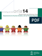 Memoria de servicios y programas desarrollados durante el año 2014 por los Servicios Sociales Municipales