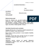 ANAMNESE PEDIÁTRICA- Esquema