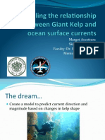 Modeling the relationship between Giant Kelp and ocean surface currents