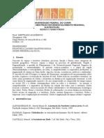 Plano de Disciplina - Redes e Território 2015