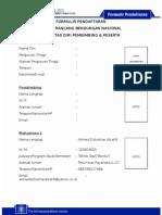 Formulir Pendaftaran Lrbn 2015