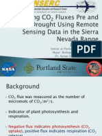 Estimating CO2 Fluxes Pre and Post Drought Using Remote Sensing Data in the Sierra Nevada Range