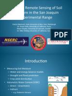 Airborne Remote Sensing of Soil Moisture in the San Joaquin Experimental Range