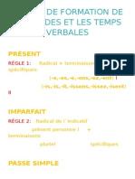 Régles de Formation de Les Modes Et Les Temps Verbales