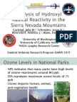 Analysis of Hydroxyl Radical Reactivity in the Sierra Nevada Mountains