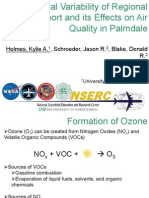Diurnal Variability of Regional Transport and its Effects on Air Quality in Palmdale