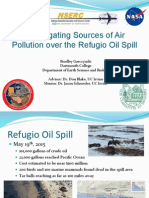 Investigating Sources of Air Pollution Over the Refugio Oil Spill