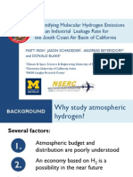 Quantifying Molecular Hydrogen Emissions and an Industrial Leakage Rate for the South Coast Air Basin of California